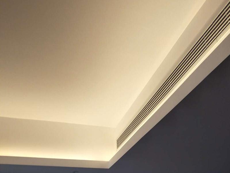客厅吊顶灯带安装