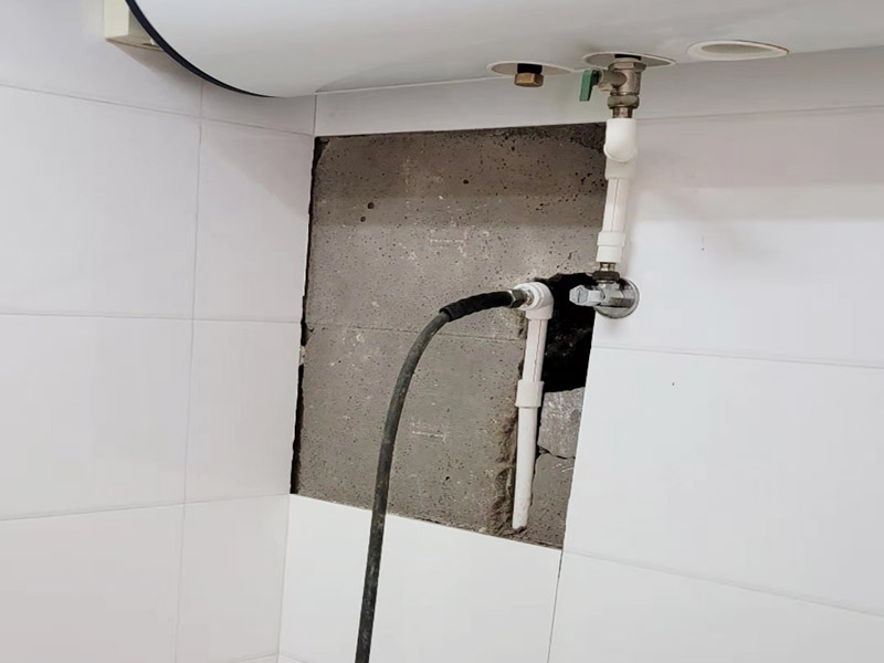 热水器墙内水管打压