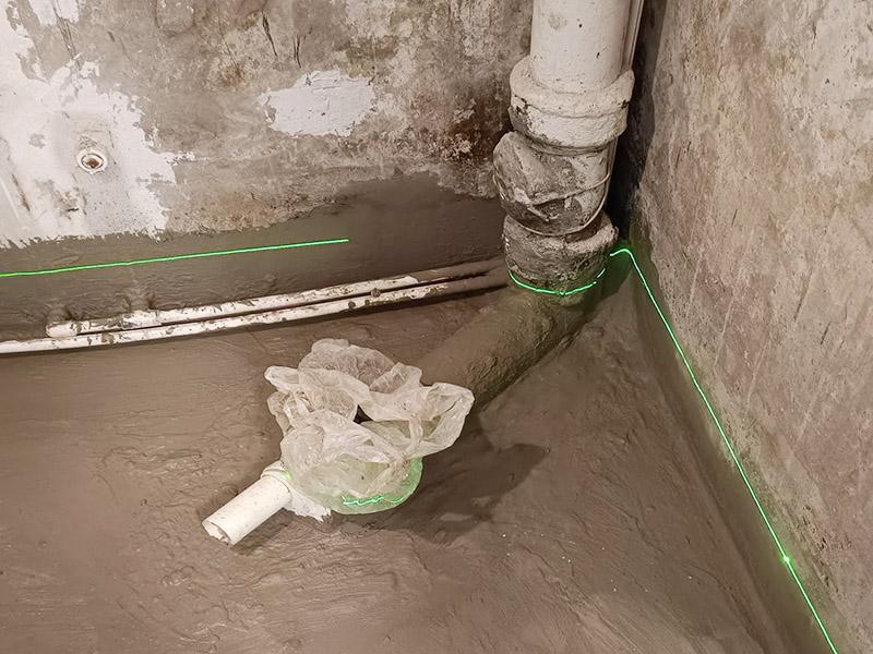 浴室小面积防水找平