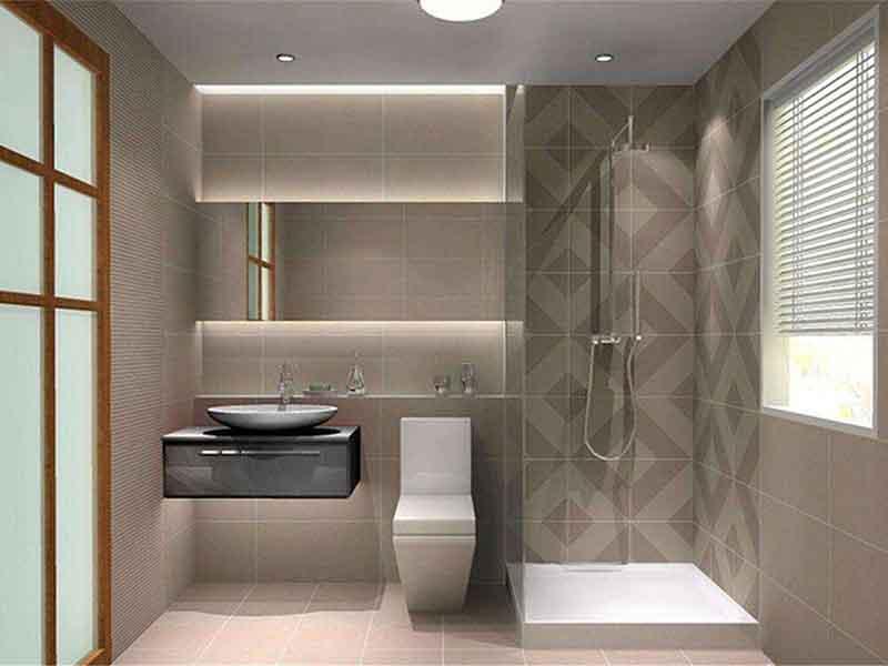 北京市区卫生间墙面瓷砖旧了翻新-敲打瓷砖