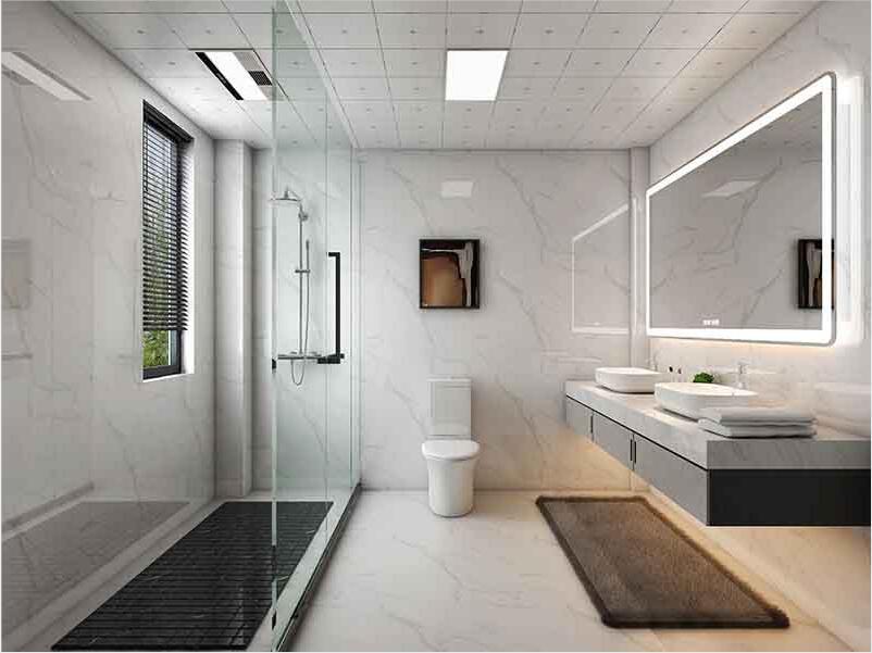 中山市区4-5平米卫生间翻新装修-地面贴砖