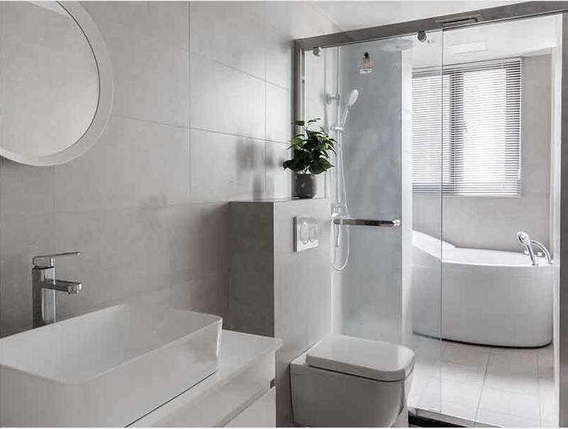 中山市区4-5平米卫生间翻新装修-卫浴安装