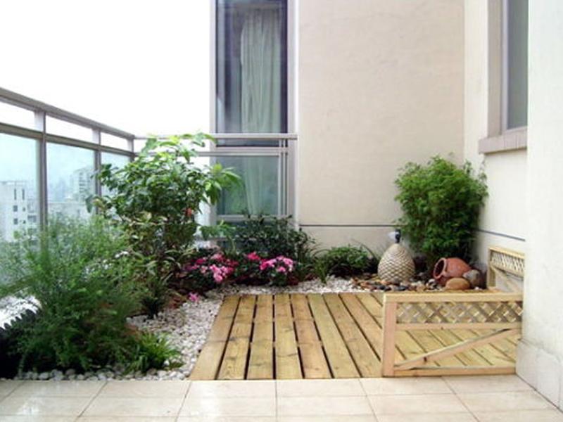 家庭露台装修要点,地面找坡可防止雨水倒灌